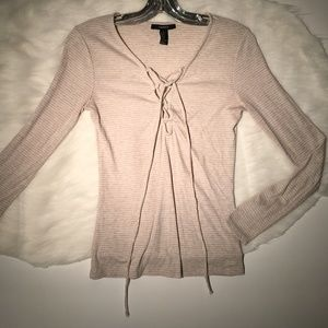FOREVER 21 Tie Top Knit